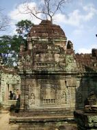 Asisbiz Preah Khan Temple Bas relief false door for the spirits Cambodia 05