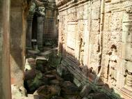 Asisbiz Preah Khan Temple Bas relief false door for the spirits Cambodia 09