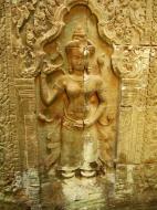 Asisbiz Preah Khan Temple Bas relief female divinty main enclosure 02