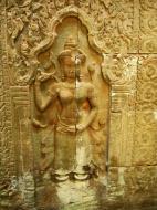 Asisbiz Preah Khan Temple Bas relief female divinty main enclosure 03