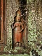 Asisbiz Preah Khan Temple Bas relief female divinty main enclosure 07