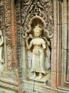Asisbiz Preah Khan Temple Bas relief female divinty main enclosure 10