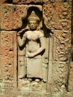 Asisbiz Preah Khan Temple Bas relief female divinty main enclosure 12
