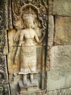 Asisbiz Preah Khan Temple Bas relief female divinty main enclosure 13