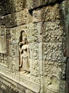 Asisbiz Preah Khan Temple Bas relief female divinty main enclosure 17