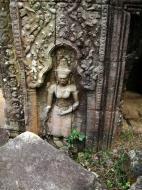 Asisbiz Preah Khan Temple Bas relief female divinty main enclosure 18