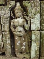 Asisbiz Preah Khan Temple Bas relief female divinty main enclosure 19