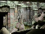 Asisbiz Preah Khan Temple Bas relief female divinty main enclosure 20