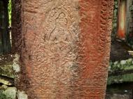 Asisbiz Preah Khan Temple Bas relief hermit in prayer main enclosure 01