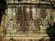 Asisbiz Preah Khan Temple Bas relief hermits in prayer main enclosure 03