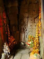 Asisbiz Preah Khan Temple Bas relief main female divinty shrine area 01