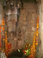 Asisbiz Preah Khan Temple Bas relief main female divinty shrine area 02