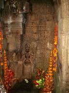 Asisbiz Preah Khan Temple Bas relief main female divinty shrine area 03