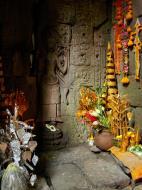 Asisbiz Preah Khan Temple Bas relief main female divinty shrine area 04