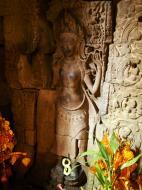 Asisbiz Preah Khan Temple Bas relief main female divinty shrine area 06