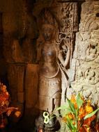 Asisbiz Preah Khan Temple Bas relief main female divinty shrine area 08