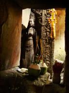 Asisbiz Preah Khan Temple Bas relief main female divinty shrine area 09