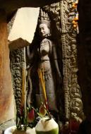 Asisbiz Preah Khan Temple Bas relief main female divinty shrine area 10