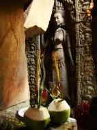 Asisbiz Preah Khan Temple Bas relief main female divinty shrine area 11