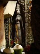 Asisbiz Preah Khan Temple Bas relief main female divinty shrine area 12