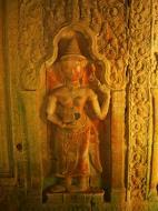 Asisbiz Preah Khan Temple Bas relief male and female divinty main enclosure 02