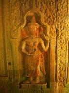Asisbiz Preah Khan Temple Bas relief male and female divinty main enclosure 03
