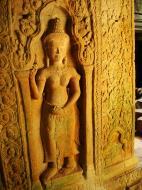 Asisbiz Preah Khan Temple Bas relief male and female divinty main enclosure 05