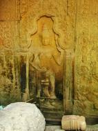 Asisbiz Preah Khan Temple Bas relief male divinty main enclosure 01