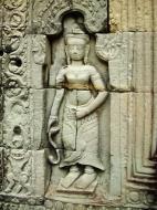 Asisbiz Preah Khan Temple Bas relief male divinty main enclosure 04