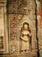 Asisbiz Preah Khan Temple Bas relief male divinty main enclosure 06