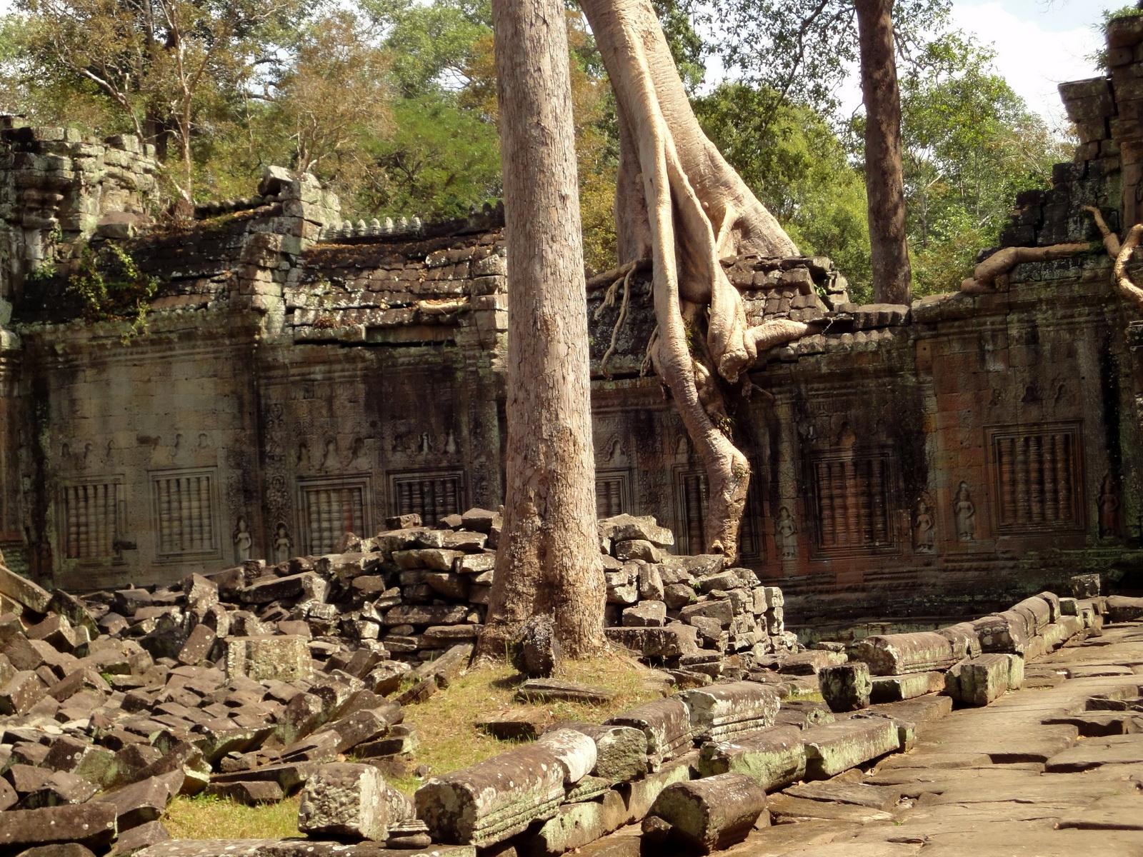 Preah Khan 12th century Khmer Style Eastern Gopura Angkor Thom 12