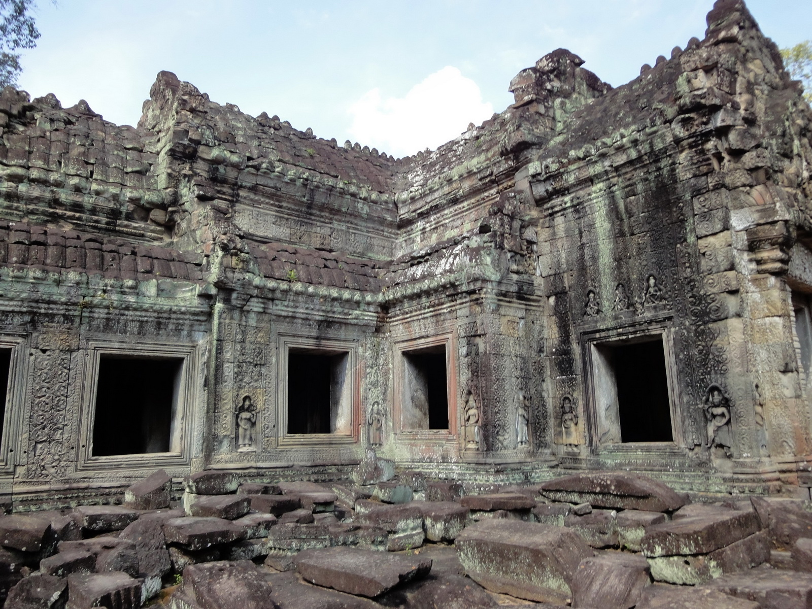 Preah Khan 12th century Khmer Style Western Gopura Angkor Thom 03