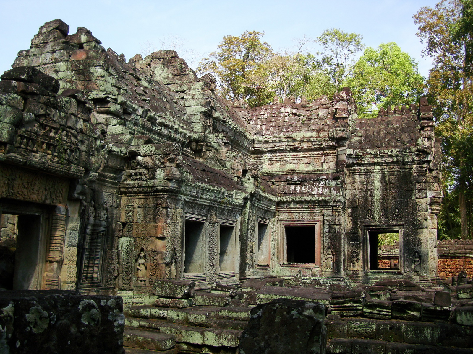 Preah Khan 12th century Khmer Style Western Gopura Angkor Thom 06