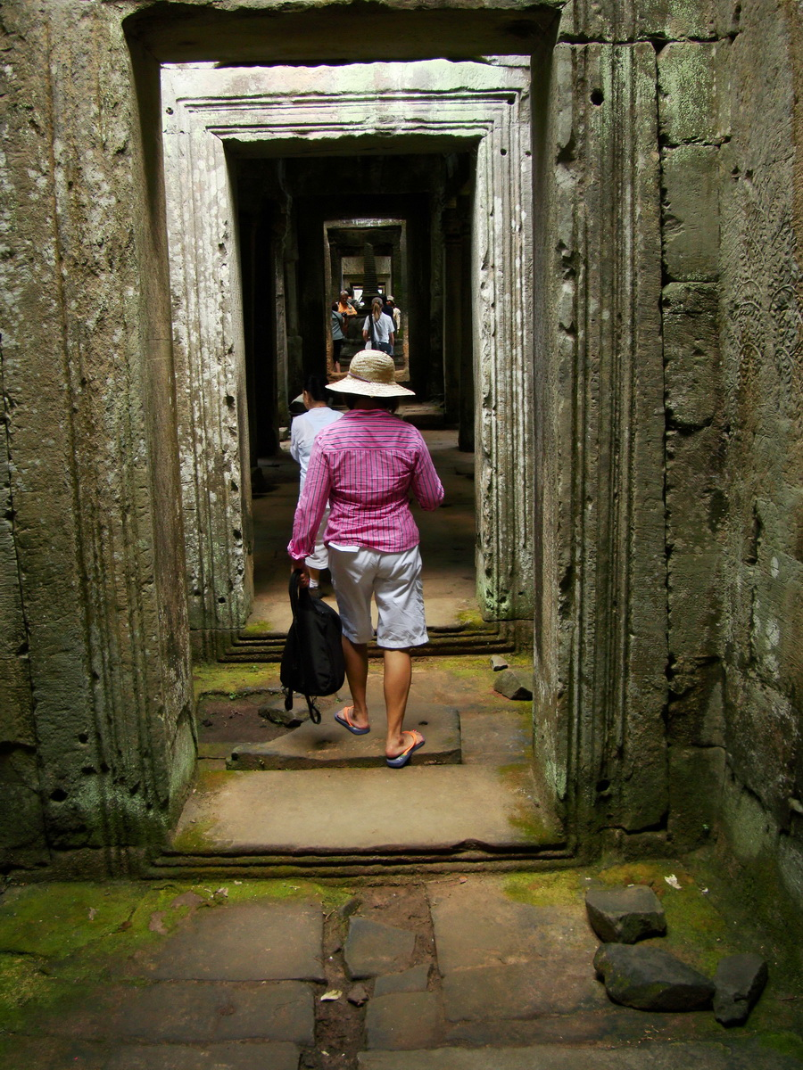 Preah Khan Temple 12th century Khmer Style passageways 12