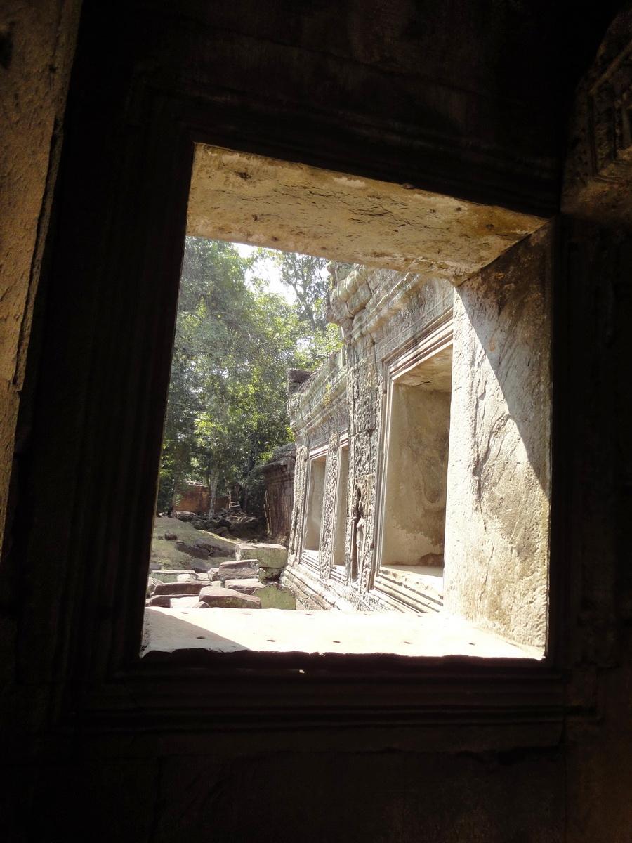 Preah Khan Temple 12th century Khmer Style windows 01