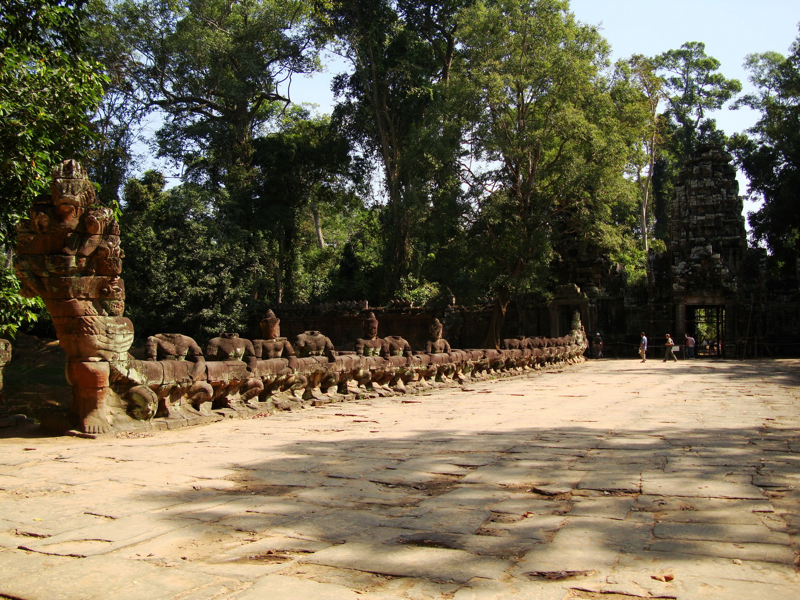 Preah Khan Temple Asura west naga bridge Angkor Thom 03
