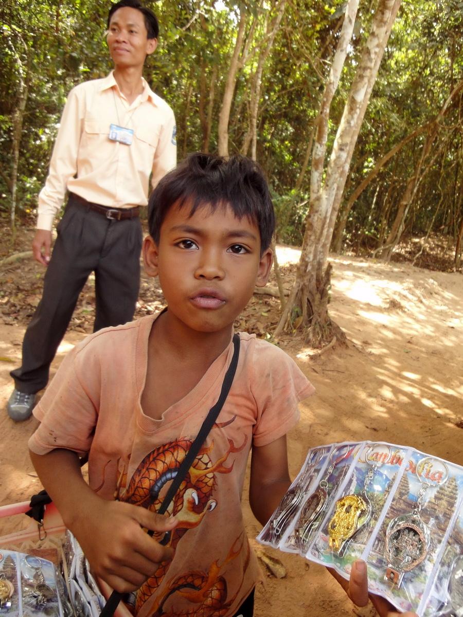 Preah Khan Temple child street vendor Preah Vihear province 01