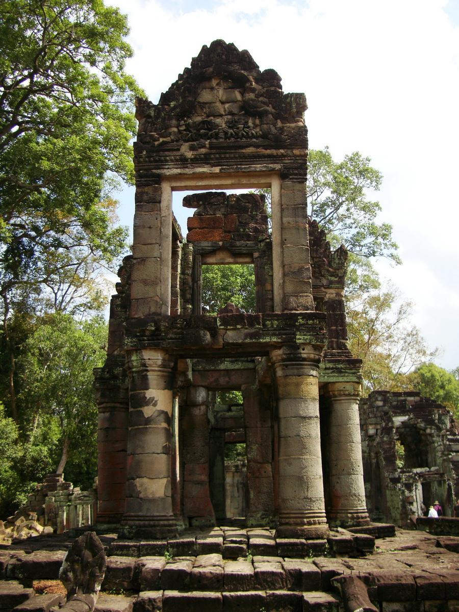 Preah Khan Temple two story victory hall Preah Vihear province 06