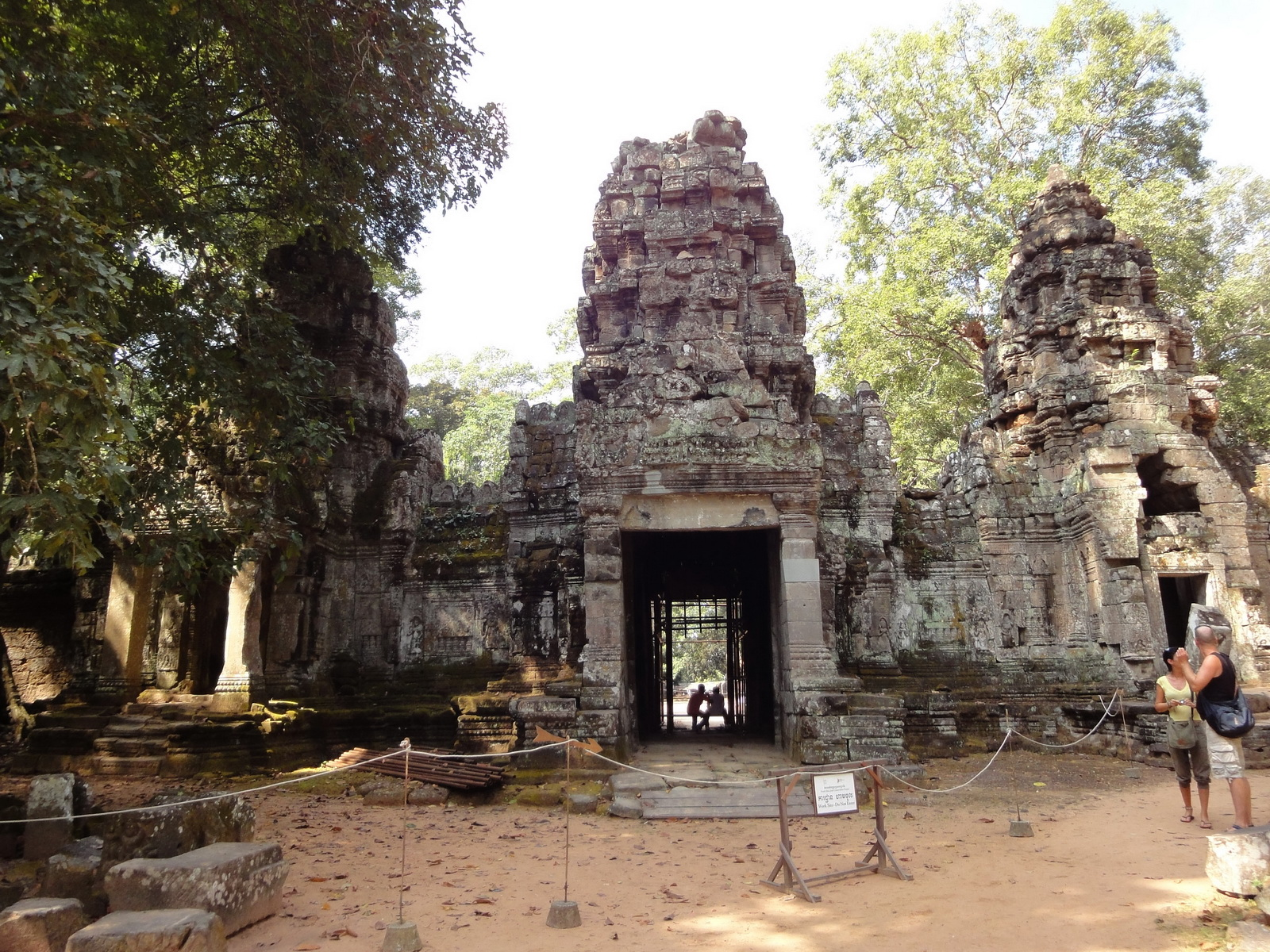 Preah Khan Temple west Gopuram entry tower naga bridge Angkor Thom 08
