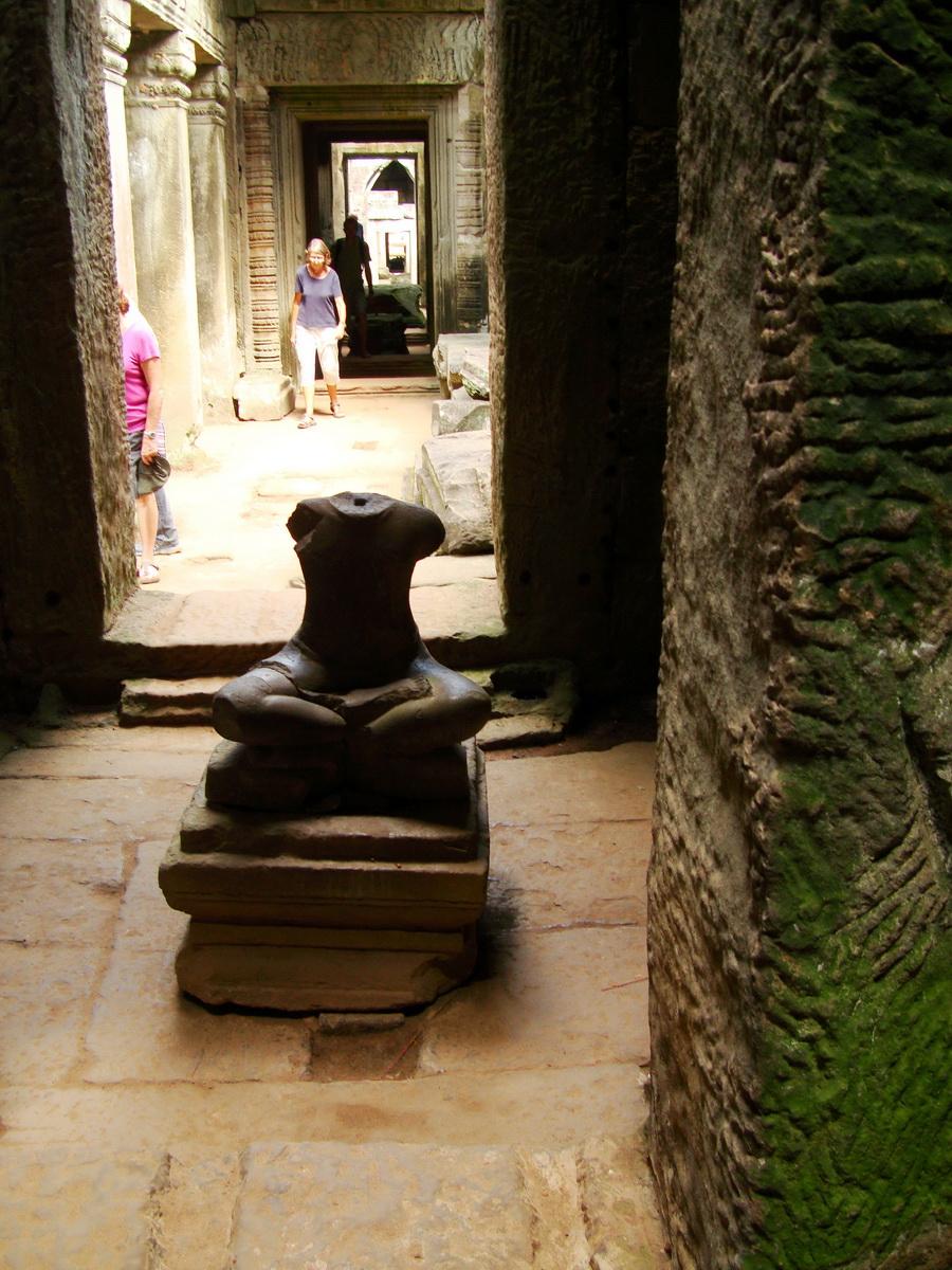 Preah Khan sanctuary headless Buddha Preah Vihear province 05
