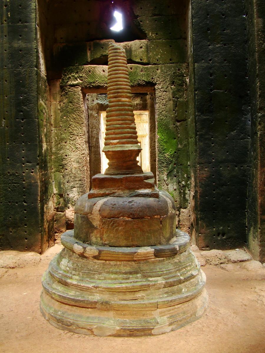 Preah Khan sanctuary stupa Angkor Thom Preah Vihear province 03