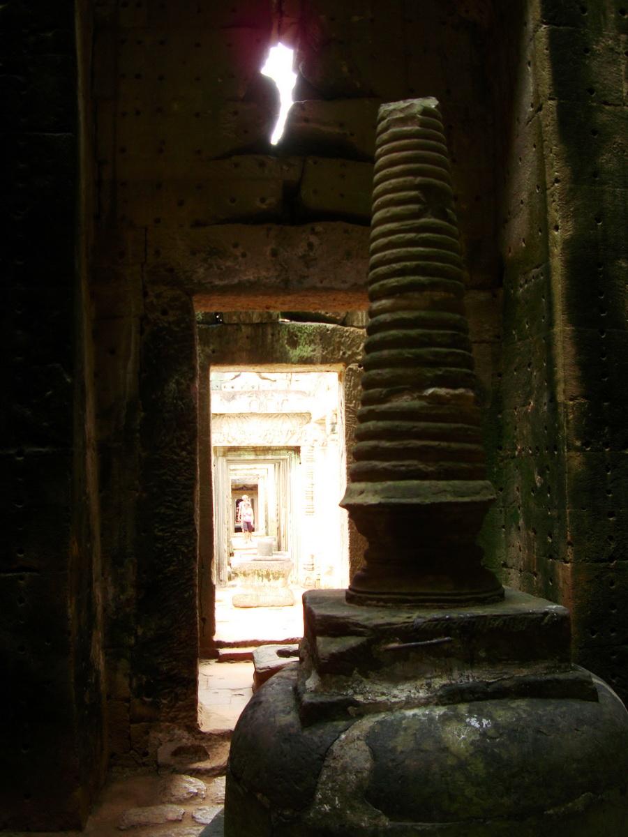 Preah Khan sanctuary stupa Angkor Thom Preah Vihear province 05