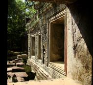 Asisbiz Preah Khan Temple 12th century Khmer Style windows 07