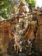 Asisbiz Preah Khan Temple 4th wall enclosure 5m Garuda holding Nagas 03