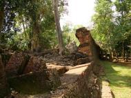 Asisbiz Preah Khan Temple collapsed laterite wall Northern Gopura 01