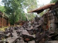 Asisbiz Preah Khan Temple collapsed masonary Preah Vihear province 02