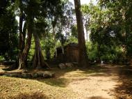 Asisbiz Preah Khan Temple collapsed secondary laterite wall east corner 01