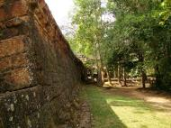 Asisbiz Preah Khan Temple laterite wall Northern Gopura Cambodia 01