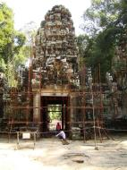 Asisbiz Preah Khan Temple west Gopuram entry tower naga bridge Angkor Thom 02