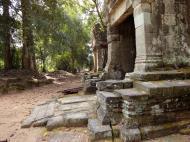 Asisbiz Preah Khan Temple west Gopuram entry tower naga bridge Angkor Thom 03